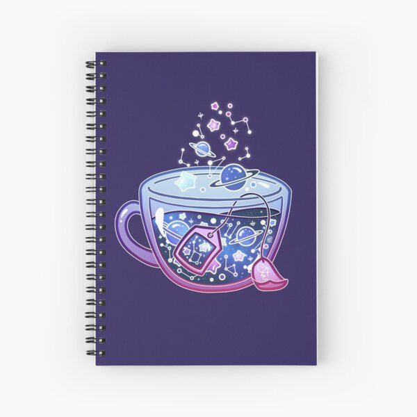 Galaxy Tea Spiral Notebook