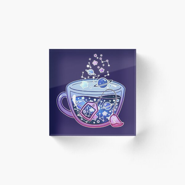 Galaxy Tea Acrylic Block