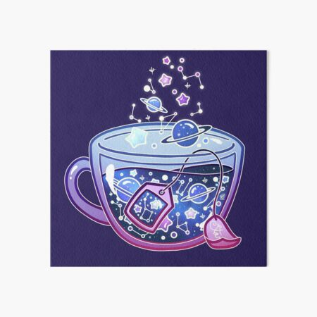 Galaxy Tea Art Board Print