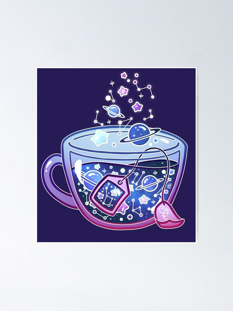 Alternate view of Galaxy Tea Poster