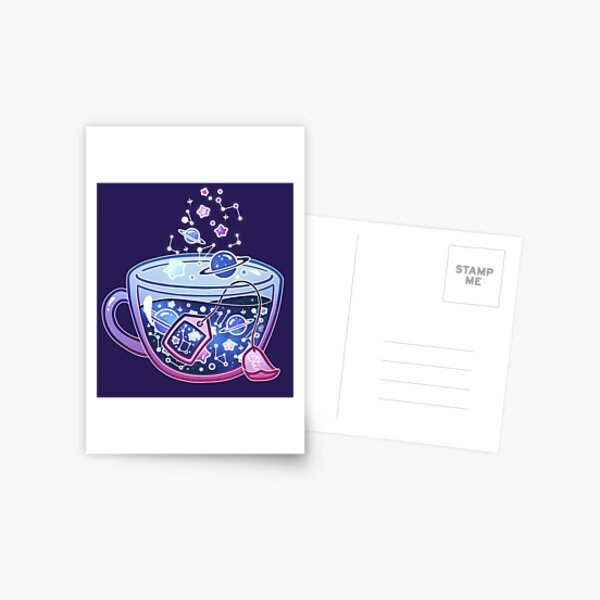 Galaxy Tea Postcard