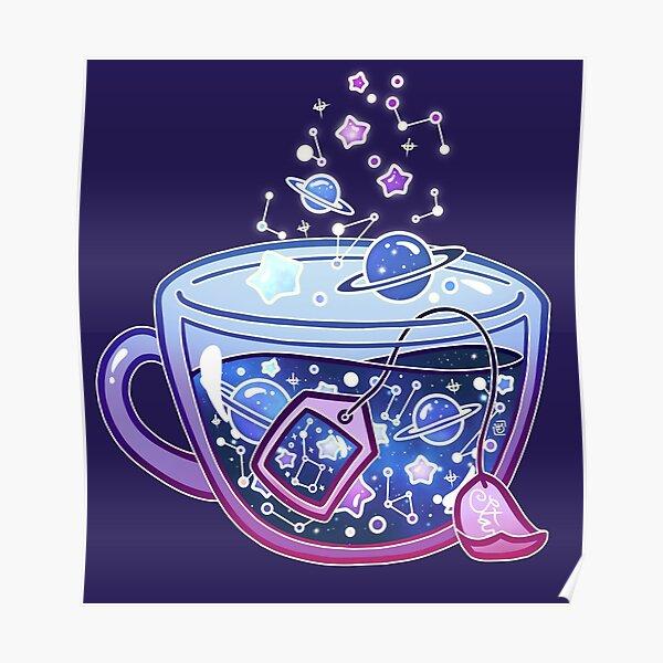 Galaxy Tea Poster
