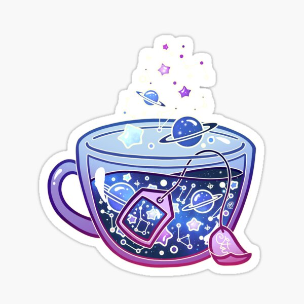 Galaxy Tea Sticker