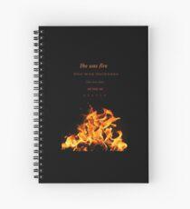 She was fire Spiral Notebook