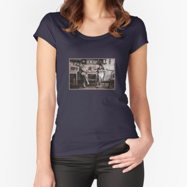 Fleabag and Boo Fitted Scoop T-Shirt