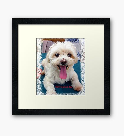 Have a great day Framed Print