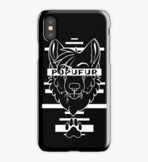 POPUFUR -white text- iPhone Case