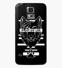 POPUFUR -white text- Case/Skin for Samsung Galaxy