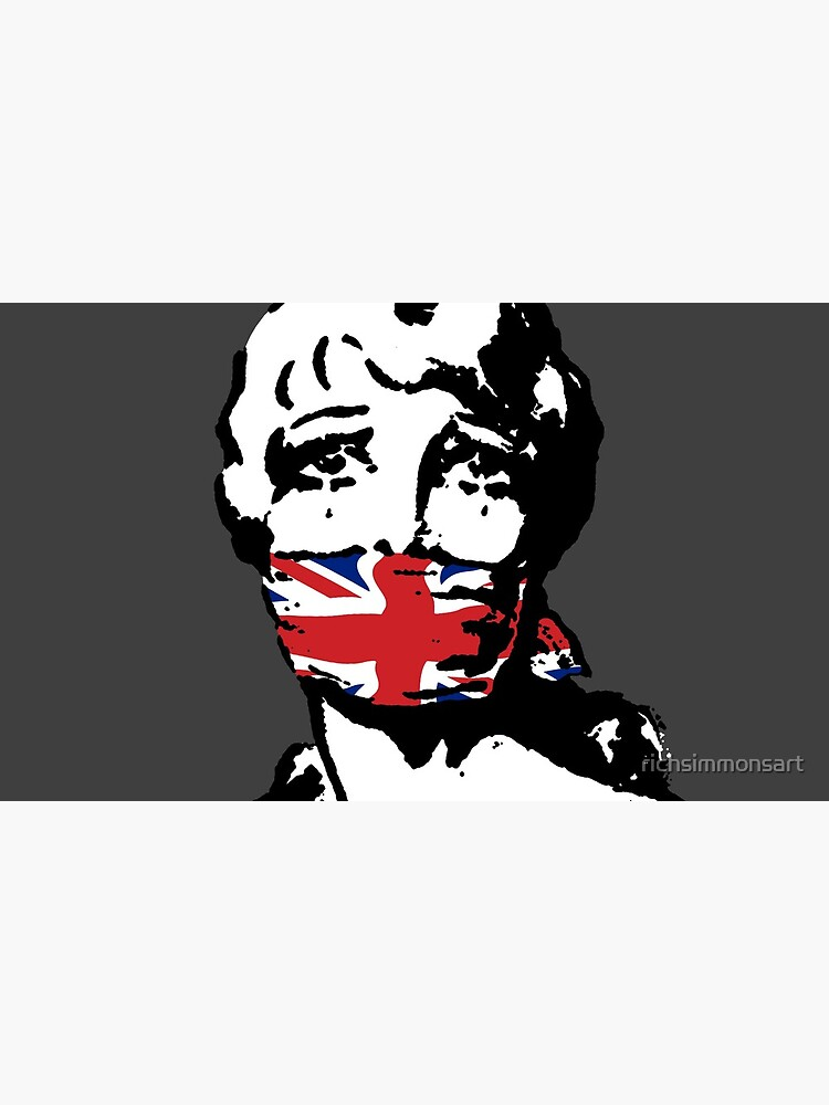 Freedom Of Speech UK Charcoal by richsimmonsart