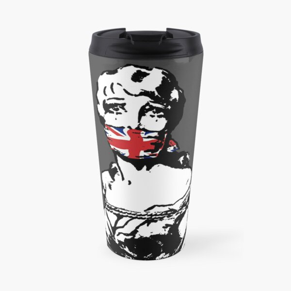 Freedom Of Speech UK Charcoal Travel Mug