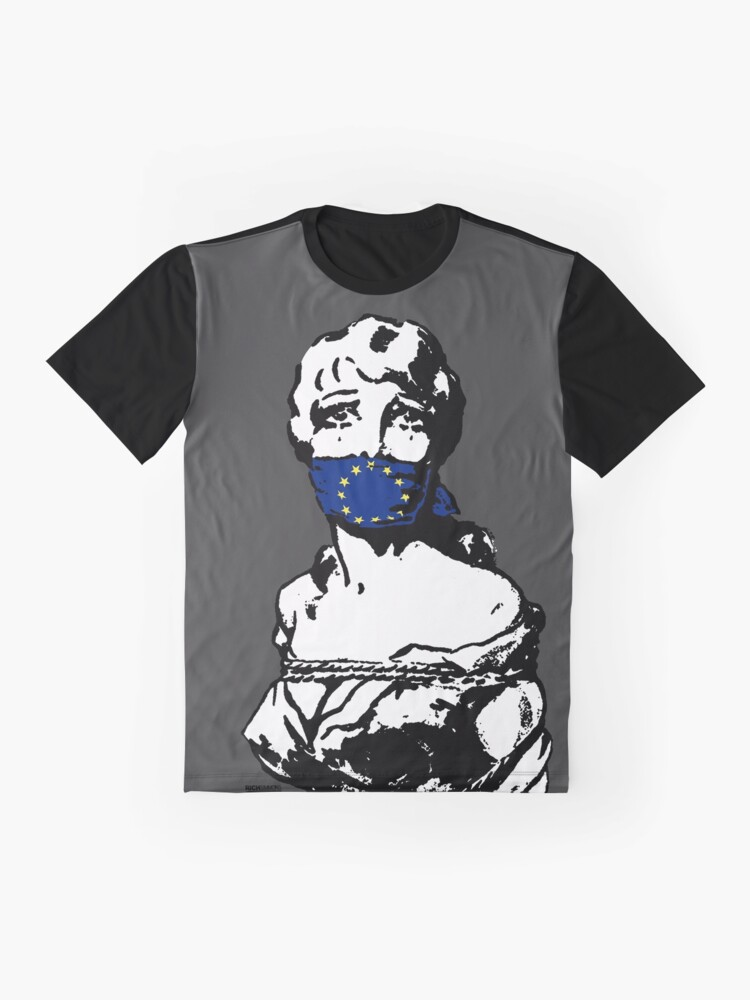Alternate view of Freedom Of Speech Europe Charcoal Graphic T-Shirt