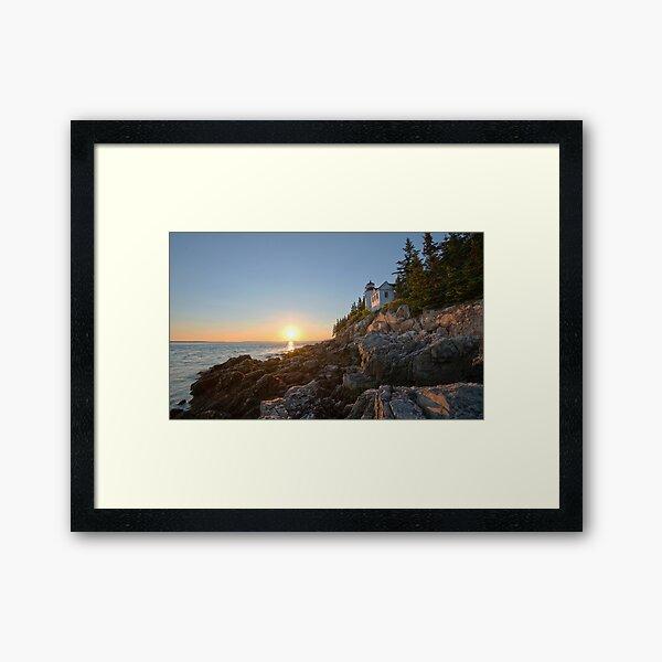 Sunset at Bass Harbor Lighthouse - Acadia National Park, Maine Framed Art Print