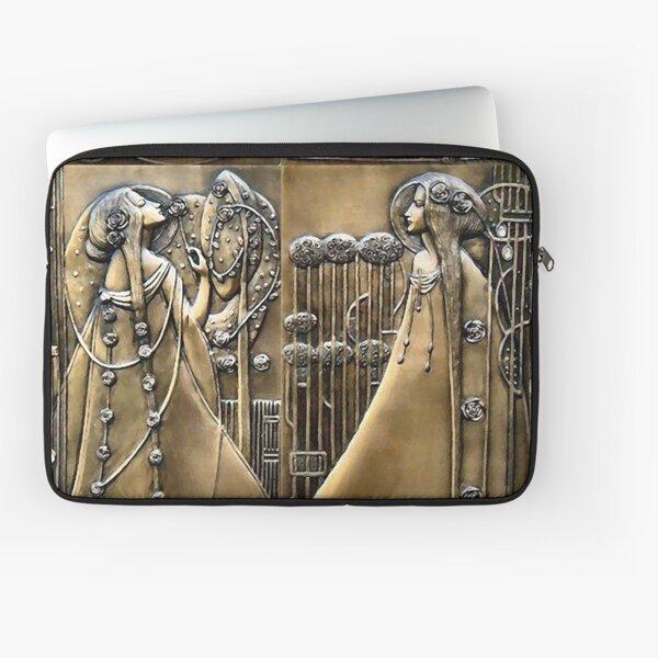 Art Nouveau Female Figures Amongst Roses Laptop Sleeve