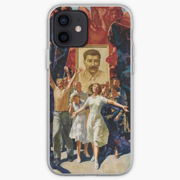 ALEKSANDR DUDIN, Russian, 20th Century, Demonstration, Dictatorship, diktatura, poster, modern art, people, art, painting, group, god, illustration, color image, males, women, men, imagination iPhone Soft Case