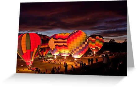 Twilight Glow, Balloon Festival, Statesville, NC by Denise Worden