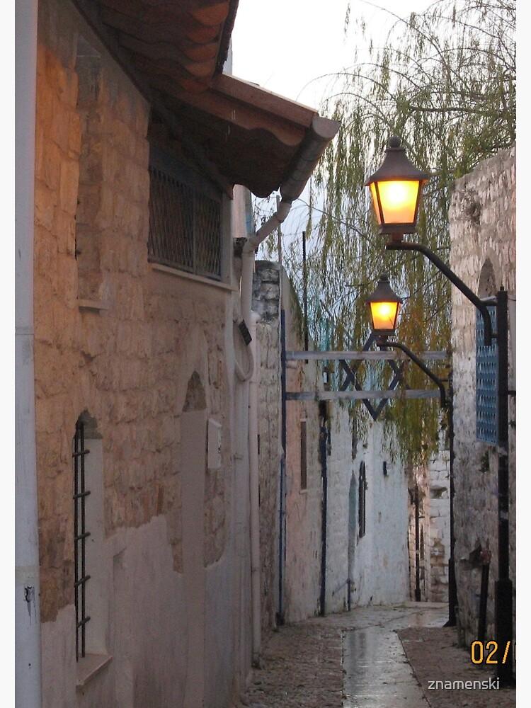 Israel, Alley, Street Lights by znamenski
