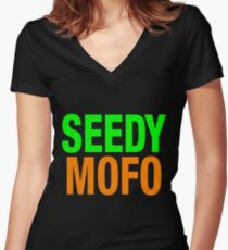 Seedy Mofo Women's Fitted V-Neck T-Shirt