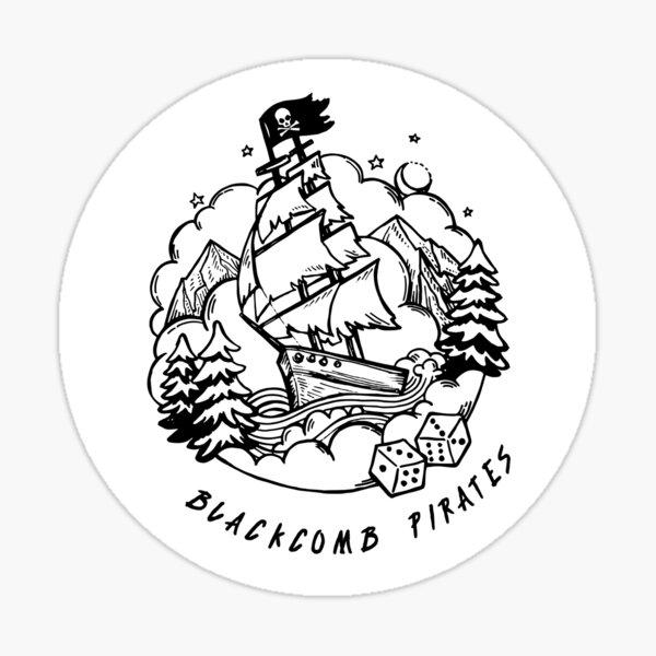 Backcomb Pirates Ship Sticker