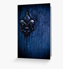 la porta blu Greeting Card