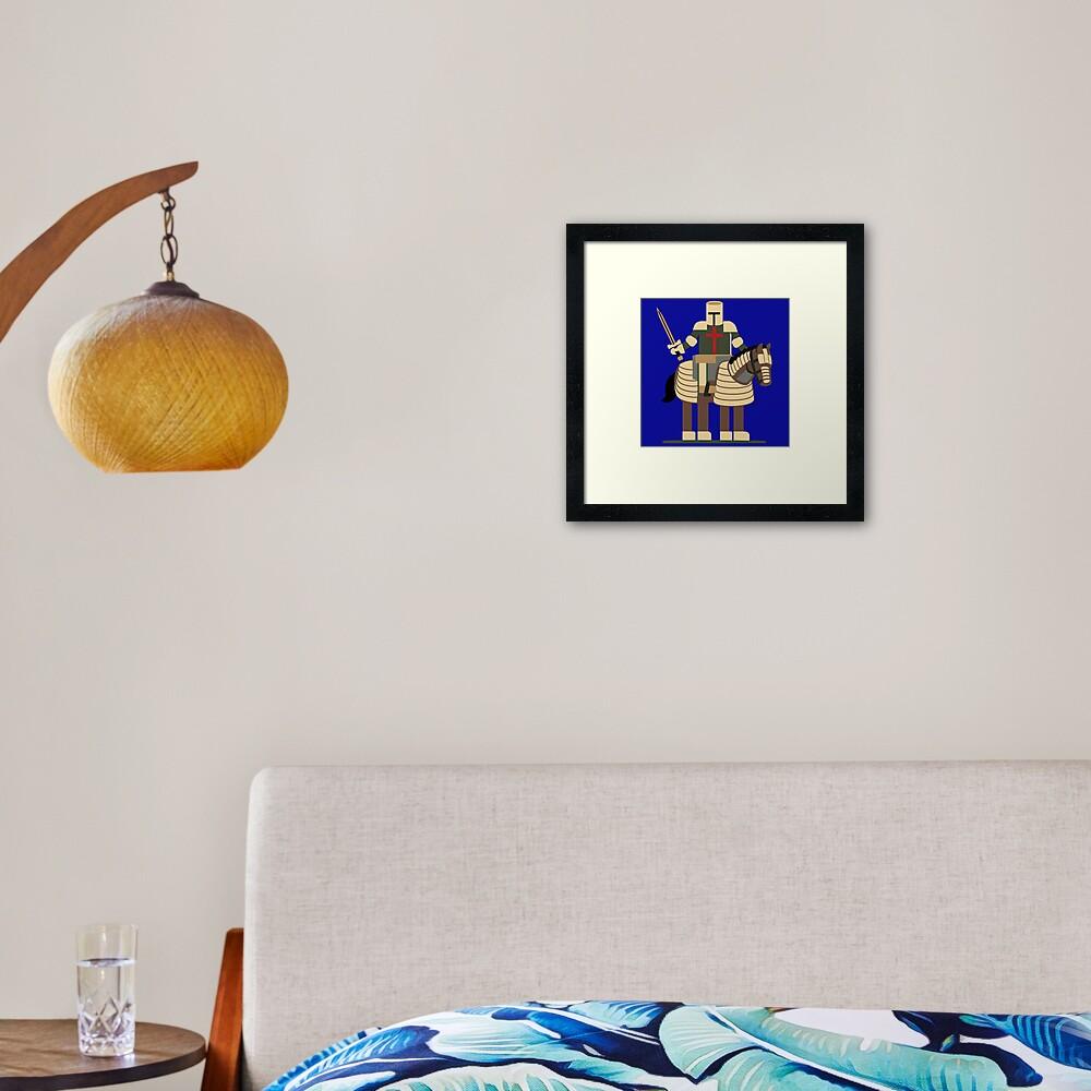 Knight N Sword Framed Art Print