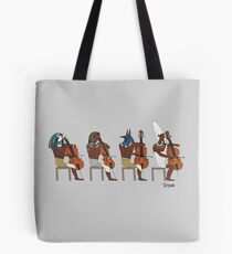 Ancient Cellists Tote Bag