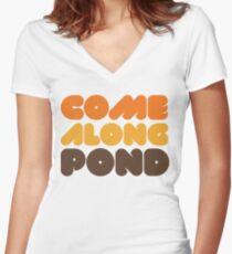 Doctor Who Come Along Pond Women's Fitted V-Neck T-Shirt