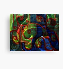 abstract scrolls Canvas Print