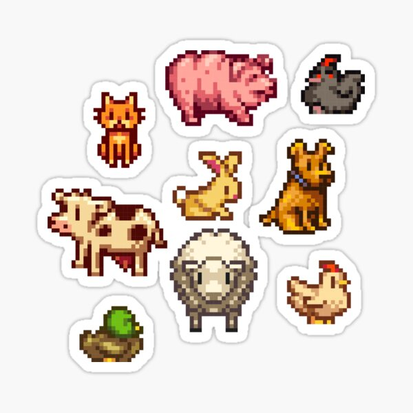 stardew valley animals Sticker
