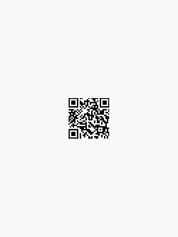 rickroll qr code sticker by x-murphyarts-x