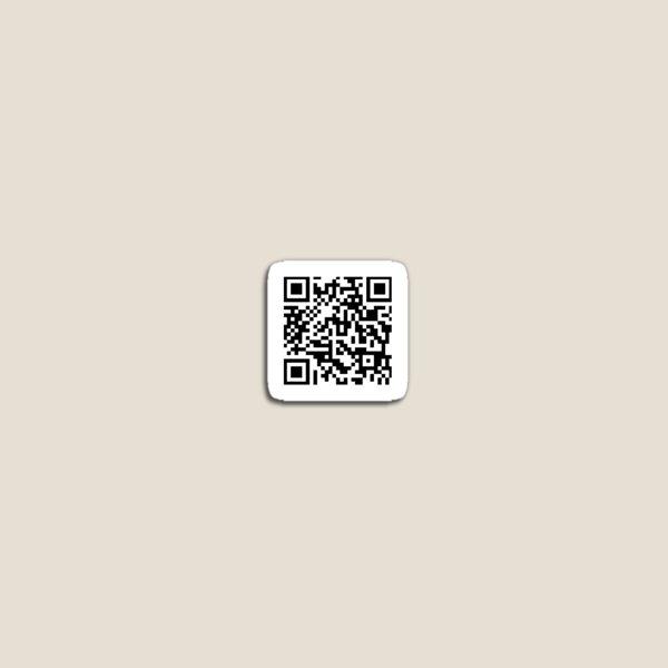 rickroll qr code sticker Magnet