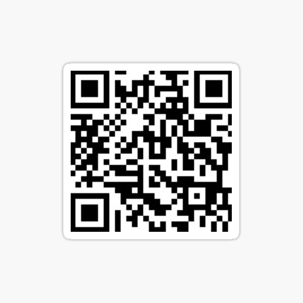 autocollant de code rickroll qr Sticker
