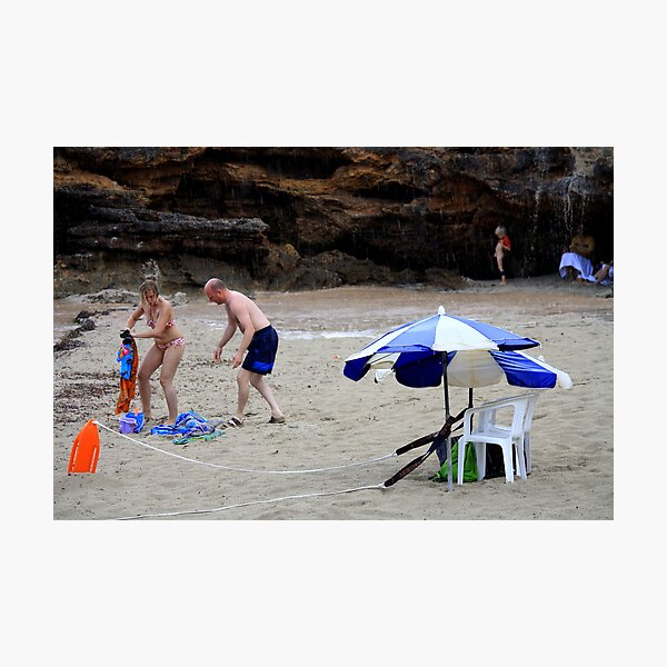 Beach Rescue.. And Relief! Photographic Print