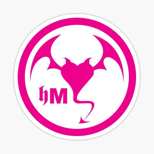 Hollywood Monsters Circle Bat Logo - PINK Sticker