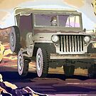 Old Jeep Car on War by Natalie Berman