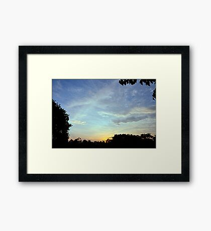 Cloud Formation at Sunset Framed Print