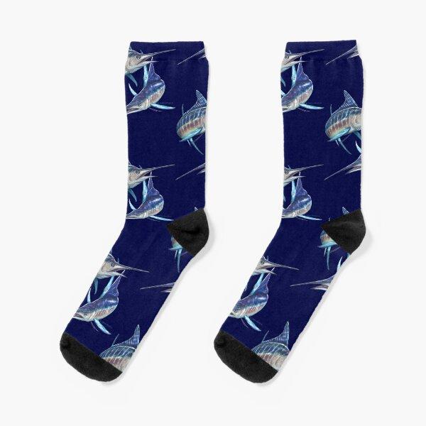 Striped Marlin Socks