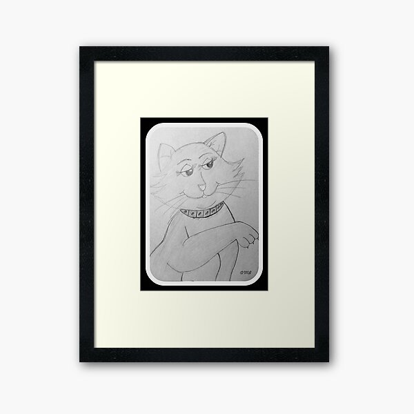 How do you do...I am Ms. Kitty © Framed Art Print