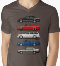 Stack of Mercedes Benz W124 E-Class Men's V-Neck T-Shirt