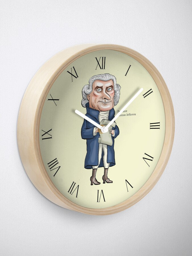 Alternate view of President Thomas Jefferson Clock