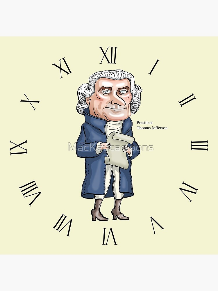 President Thomas Jefferson by MacKaycartoons