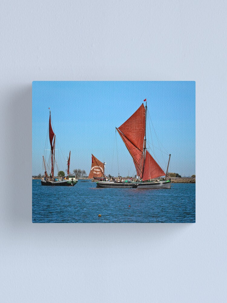 Alternate view of Sailing Barges Canvas Print