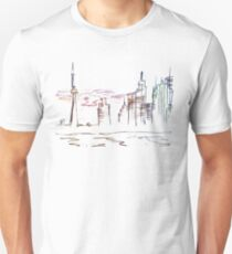 Chicago city scape line drawing T-Shirt