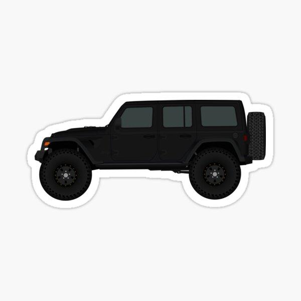 Black Jeep Wrangler JL Unlimited Rubicon - 4 puertas Pegatina