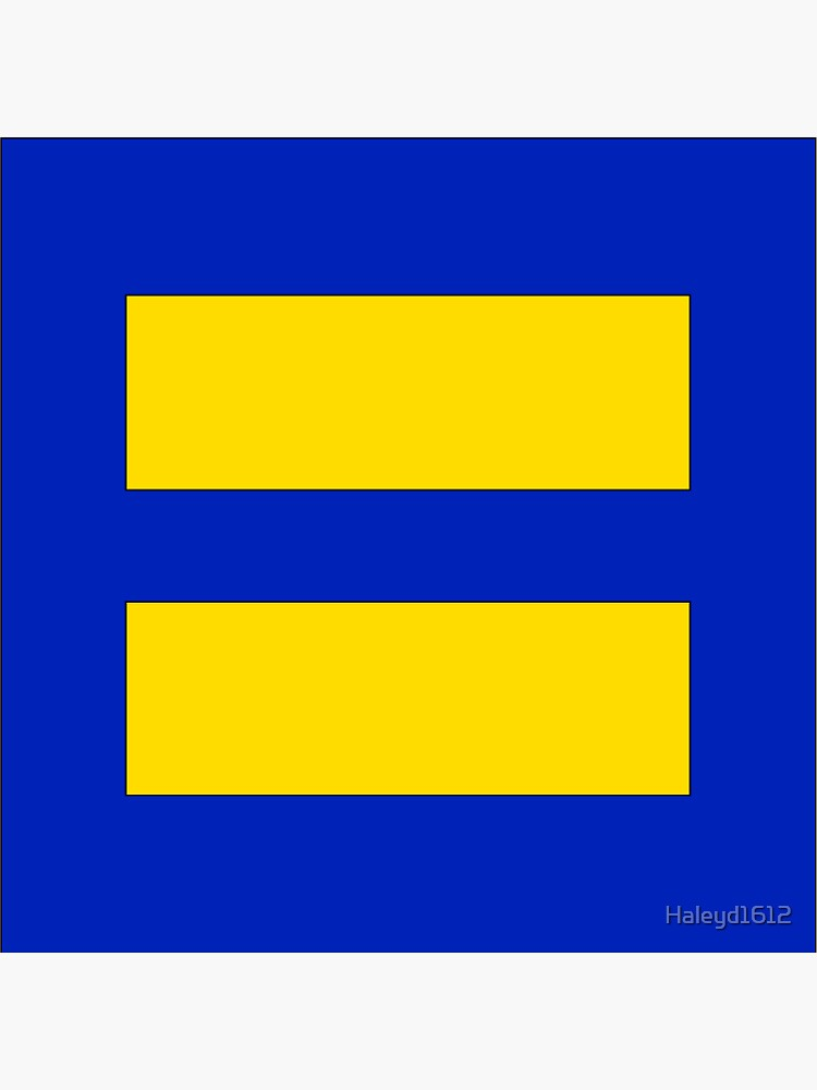 Human Rights Campaign Equality Sticker by Haleyd1612