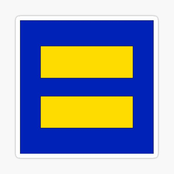 Human Rights Campaign Equality Sticker Sticker