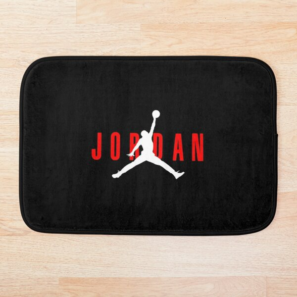 jordan logo red white Bath Mat