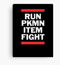 RUN PKMN Canvas Print