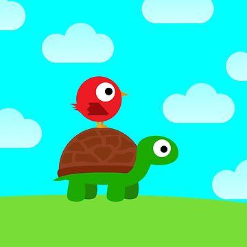 Turtle Birdy Buddies (Sky) by illumistration