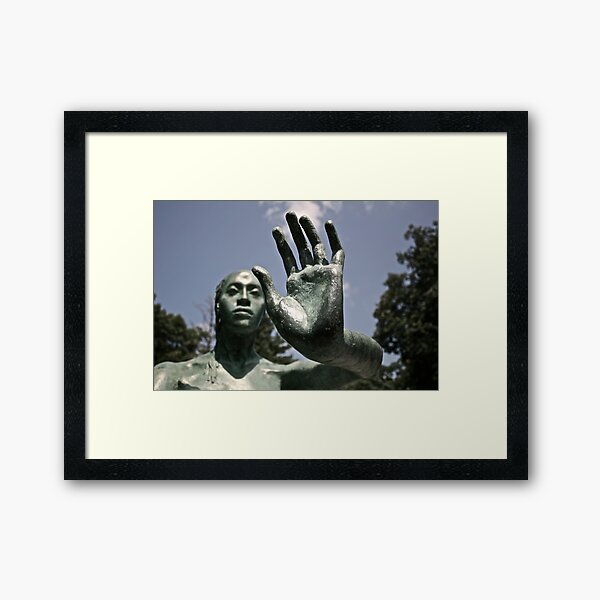 Green Statue Framed Art Print