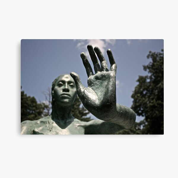 Green Statue Canvas Print